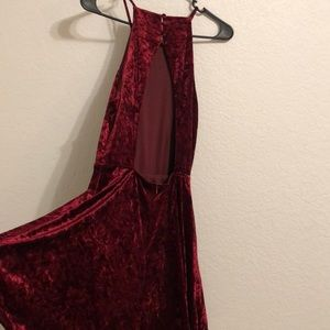 Lulu's Dresses - Lulus Burgundy Skater Dress